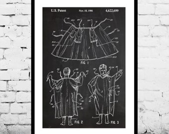 Hospital Gown Print Hospital Gown Poster Hospital Gown Patent Hospital Gown Decor Hospital Gown Wall Art Hospital Gown Design p612