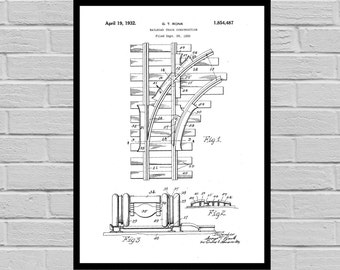 Train Track Patent Railway Related Patent Railway Invention Patent Train Poster Train Print railway Patent train Inventions SP133