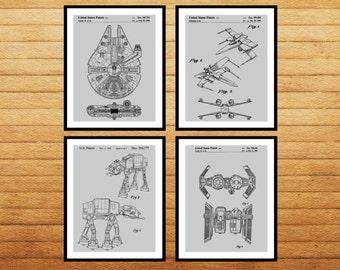 Star Wars patent Millennium Falcon Tie Bomber Xwing ATAT Star Wars Poster Star Wars Patent Millennium Falcon Star Wars Print SP538