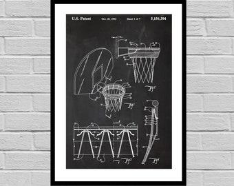 Basketball Hoop Print, Basketball Hoop Poster, Basketball Hoop Patent, Basketball Hoop Decor, Basketball Hoop Art, Vintage Basketball sp764