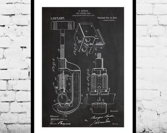 Pipe Cutting Tool Patent Pipe Cutting Tool Poster Mancave Decoration Gift for dad Home Decor Tool Art decor Gifts for him Tools p692