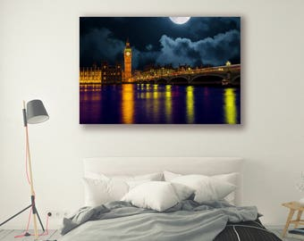 Travel Photography Cityscape Waterscape Nightscape Home Decor Big BenWall Decor Landscape Photography PH0147