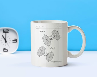 Tie Fighter Star Wars patent mug  coffee mug  coffee lover  patent art  patent mug  Star Wars   Tie Fighter  Sci FiM78