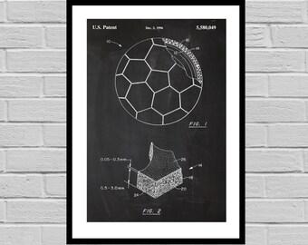 Soccer Ball Poster, Soccer Ball Print, Soccer Ball Patent, Soccer Ball Art, Soccer Ball Decor, Soccer Ball Blueprint, Soccer Decor p871