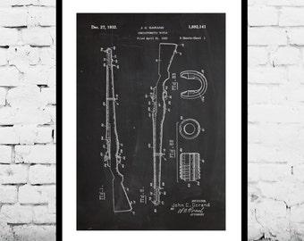 M-1 Rifle Patent M-1 Rifle Print M-1 Rifle Poster  M-1 Rifle Art M-1 Rifle Wall Art M-1 Rifle Patent M-1 Rifle Fan Art p1260