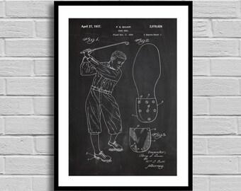 Shoe Heel Patent, Shoe Heel Patent Poster, Shoe Heel  Blueprint, Shoe Heel Print, Golfing, Golf Decor, Gifts for him, Vintage, Sports p853