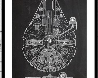 Star Wars patent Millennium Falcon Star Wars Poster Millennium Falcon Star Wars Patent Patent  Star Wars Print Millennium Falcon p933