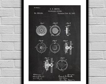 Button Patent Button Poster Button Blueprint Button Print Button Art Button Decor p063