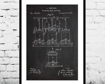 Brewing Beer Patent Brewing Beer Poster Brewing Beer Print Brewing Beer Ale Decor Beer Poster Beer and Ale Decor p115