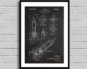 Berzac Rocket Toy Patent, Rocket Toy Patent Poster, Rocket Toy Blueprint, Rocket Toy Print,Rocket Bank,Vintage,Home Decor,Kid's Room p1179