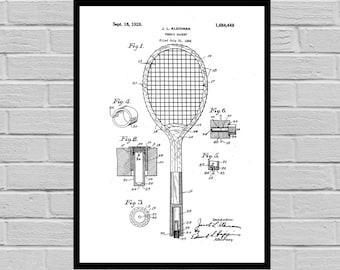 Tennis Racket Patent, Tennis Racket Poster, Tennis Racket Print, Tennis Racket Art, Tennis Racket Decor, Tennis Racket Blueprint,Tennis p888