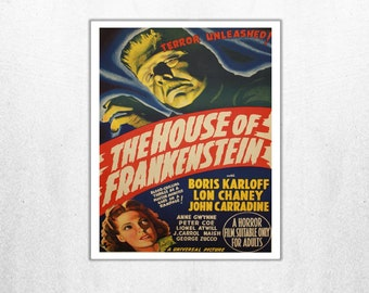 MOVIE poster  vintage The House Of Frankenstein Classic Horror poster Poster Art Vintage Print Art Home Decor movie poster Collectible sp608