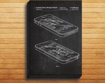 CANVAS  iPhone iOS Software Patent iPhone iOS Software Poster iPhone Blueprint iPhone Print iPhone Art iPhone Decor p178