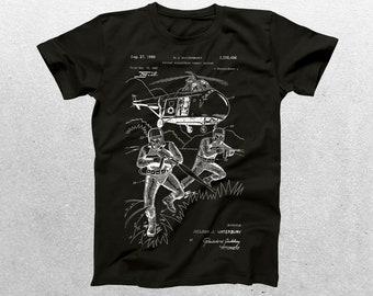 Combat Uniform Patent T-Shirt, Combat Uniform Blueprint, Patent Print T-Shirt, Combat Uniform Shirt, Military Shirt p1244