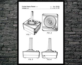 Atari Controller Poster, Atari Controller Art, Atari Controller Print, Atari Controller Patent, Atari Controller Decor, Vintage video p1178