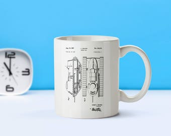 Armored Tank patent mug  coffee mug  coffee lover  patent art  patent mug  Military DecorArmy GiftVintage CollectibleTank DecorM25