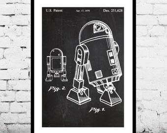 Star Wars R2D2 Droid Patent Star Wars R2D2 Droid Poster Star wars r2d2 Star wars poster Star wars art p936