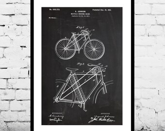 Bicycle Patent, Bicycle Poster, Bicycle Print, Bicycle Art, Bicycle Decor, Bicycle Blueprint, Bicycle Wall Art p697