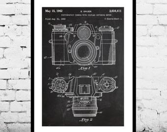 CANVAS  Camera Art Photography Decor Camera Patent Photography BlueprintVintage Camera PatentPhotographer Gifts p065
