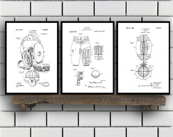 Football Patent Prints - Set of 3 - Football Decor - Football Art - Football Blueprint - Football - Football Art SP212