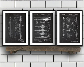 Archery Patent, Archery poster Set of THREE, bow and arrow Invention Patent, arrow Poster, bow Print, archery Inventions SP229