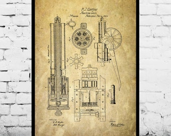Machine Gun Print Machine Gun Patent Machine Gun Art Machine Gun Poster Machine Gun Decor Machine Gun Blueprint Machine Gun Design p1253