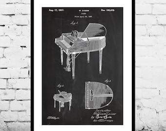 Piano Patent, Piano Poster, Piano Print, Piano Art, Piano Decor, Piano Blueprint, Piano Wall Art p843