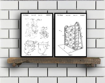 Rock Climbing set of 2  Climbing prints  Climbing Poster  Rock Climbing mixer pack  Vintage climbing Patents  Rock Climbing sp79