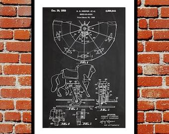Merry-Go-Round Patent Merry-Go-Round Poster Merry-Go-Round Blueprint  Merry-Go-Round Print Merry-Go-Round Art Merry-Go-Round Decor p651