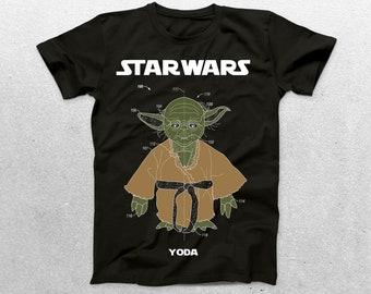 Star Wars Yoda Patent T-Shirt, Yoda Blueprint, Star Wars Patent Print T-Shirt, Star Wars T-Shirt, Star Wars Gifts, p1415