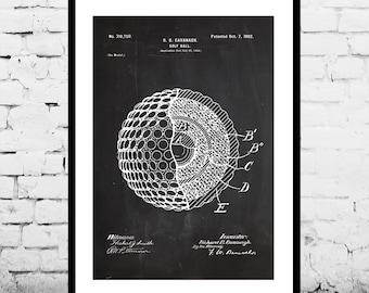 Golf Ball Poster, Golf Ball Print, Golf Ball Art, Golf Ball Patent, Golf Ball Blueprint, Golf Ball Decor,Golf Ball Wall Art ,Golf Decor p811