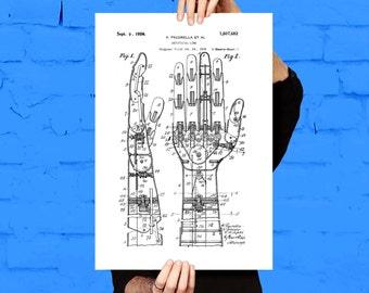 Artificial Hand Patent Print Art Patent Artificial Hand Poster Artificial Hand Print Artificial Hand Art Artificial Hand patent art p451