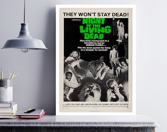 MOVIE poster vintage Night Of The Living Dead Classic Horror poster Poster Art Vintage Print Art Home Decor movie poster Zombie Decor sp646