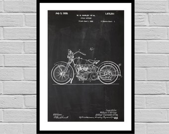 Harley Davidson Motorcycle Blueprint Patent Poster, Wall Art Poster, Harley Motorcycle Print, Wall Art Poster, Patentprints,Harley Art p1131