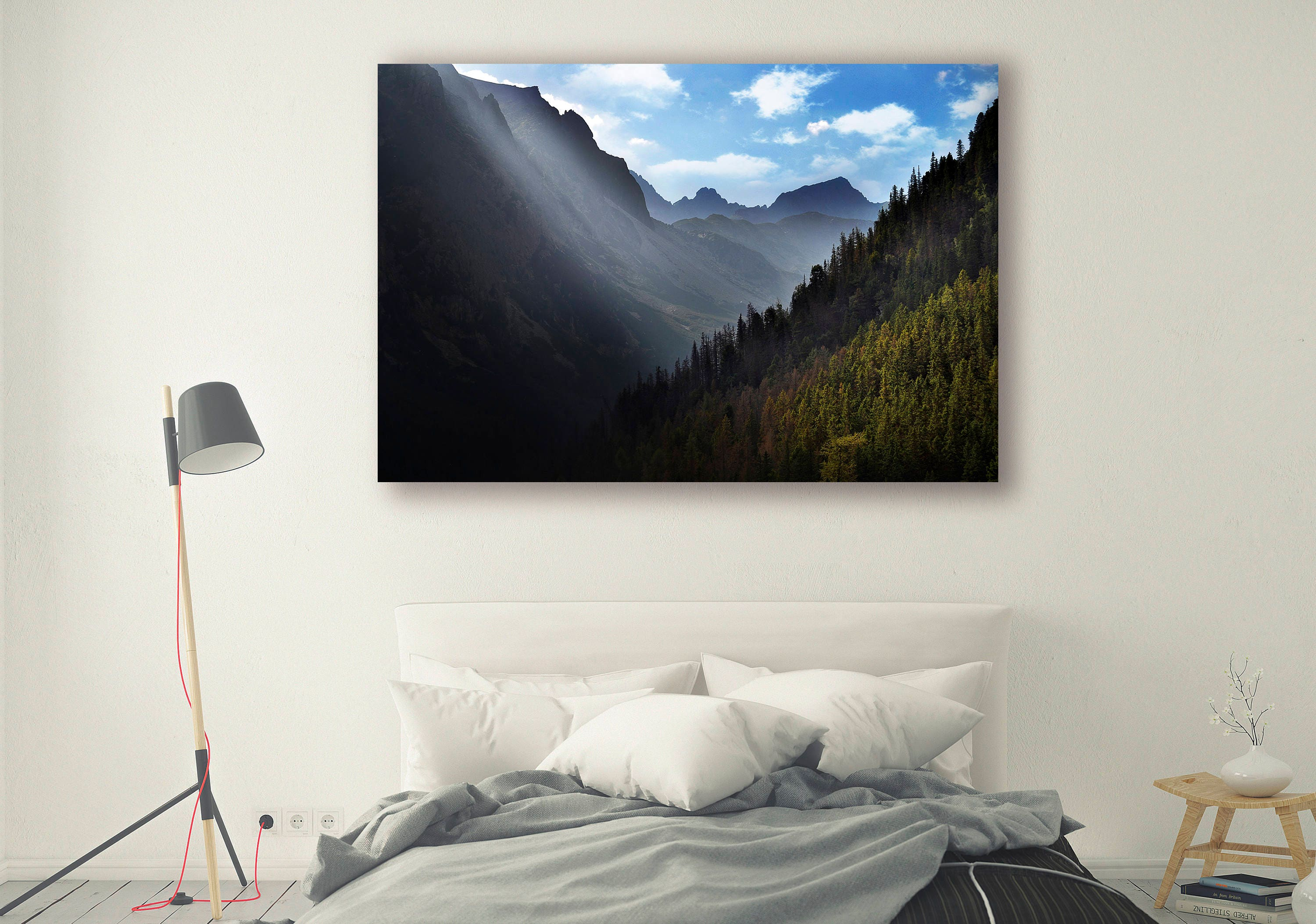 Mountains Print Large Wall Art Print Thick Forest Photography Print