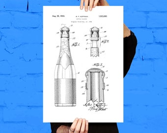 Bottle Closure Patent, Bottle Closure Poster, Bottle Closure Blueprint,  Bottle Closure Print, Bottle Closure Art, Bottle Closure Decor