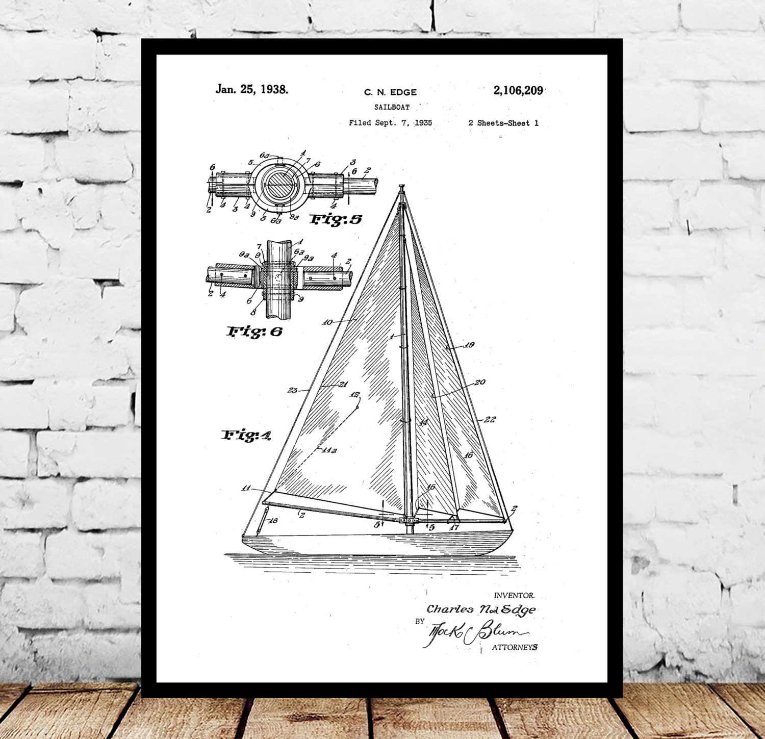 Sailboat print sailboat poster sailboat patent sailboat decor sailboat print sailboat poster sailboat patent sailboat decor sailboat art sailboat wall art sailboat blueprint nautical design malvernweather Gallery