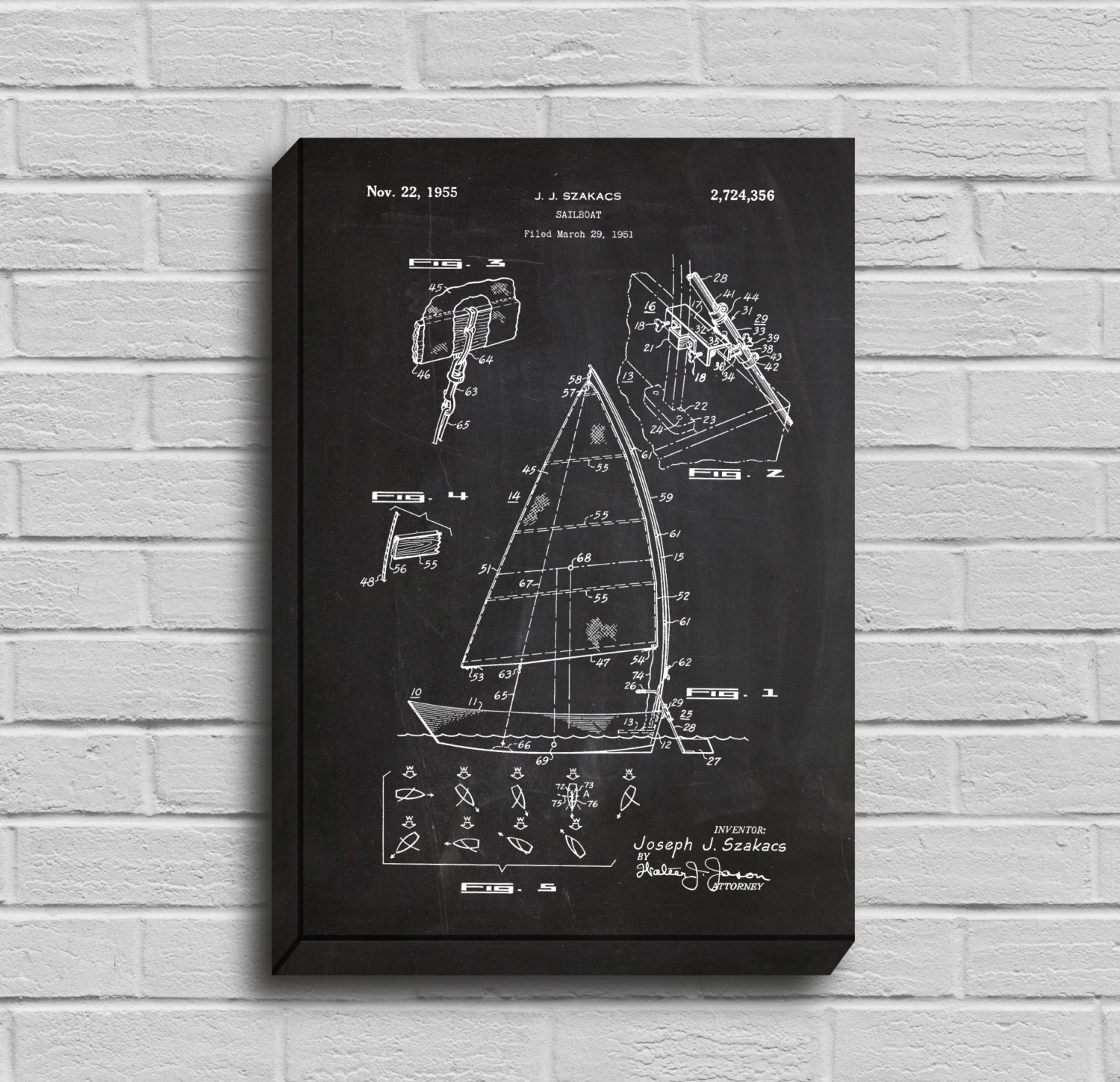 Canvas sailboat patent sailboat poster sailboat blueprint canvas sailboat patent sailboat poster sailboat blueprint sailboat print sailboat art sailboat decor nautical decor boat art malvernweather Gallery