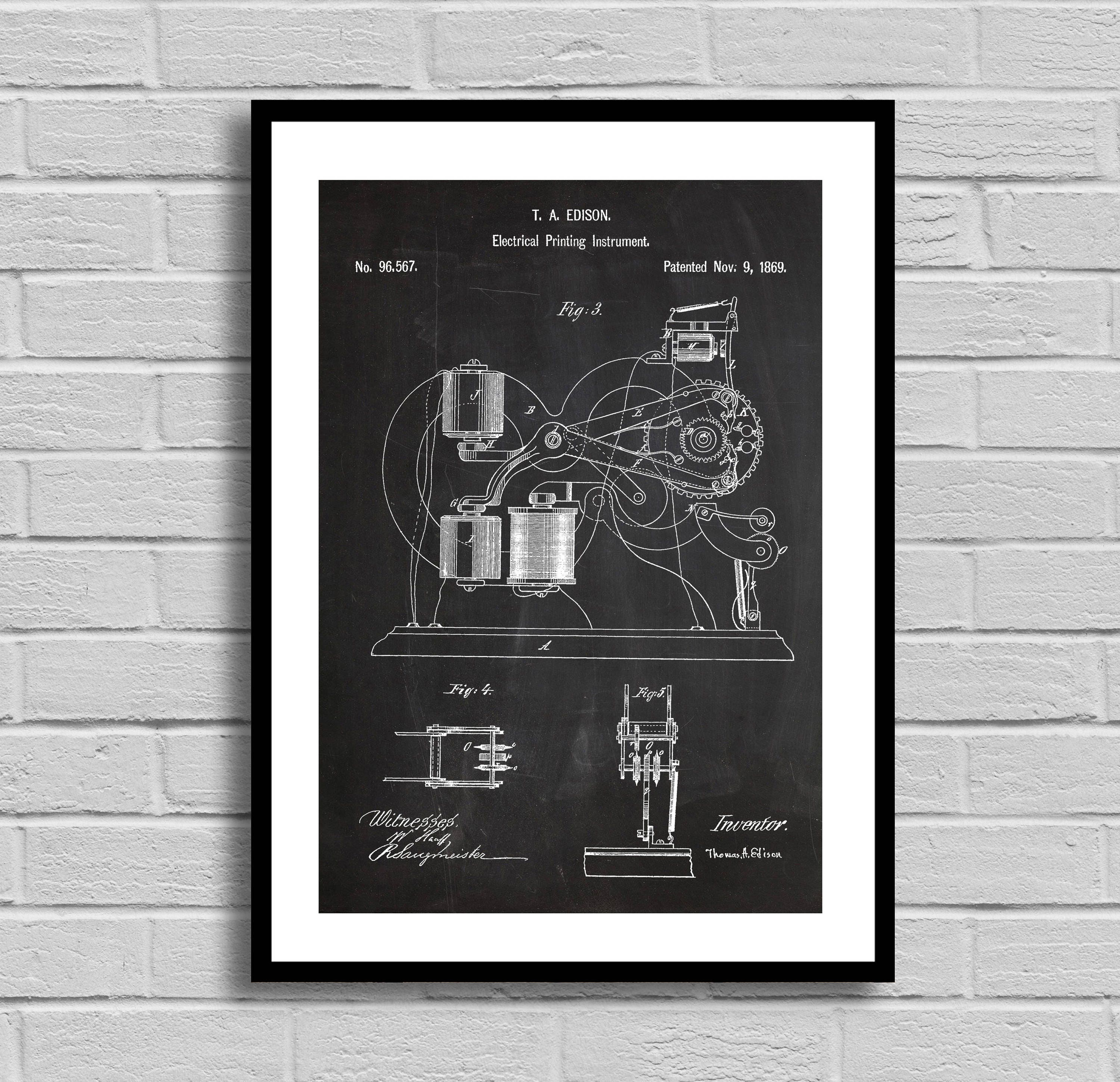 Electric Printer Patent Electric Printer Patent Poster Electric