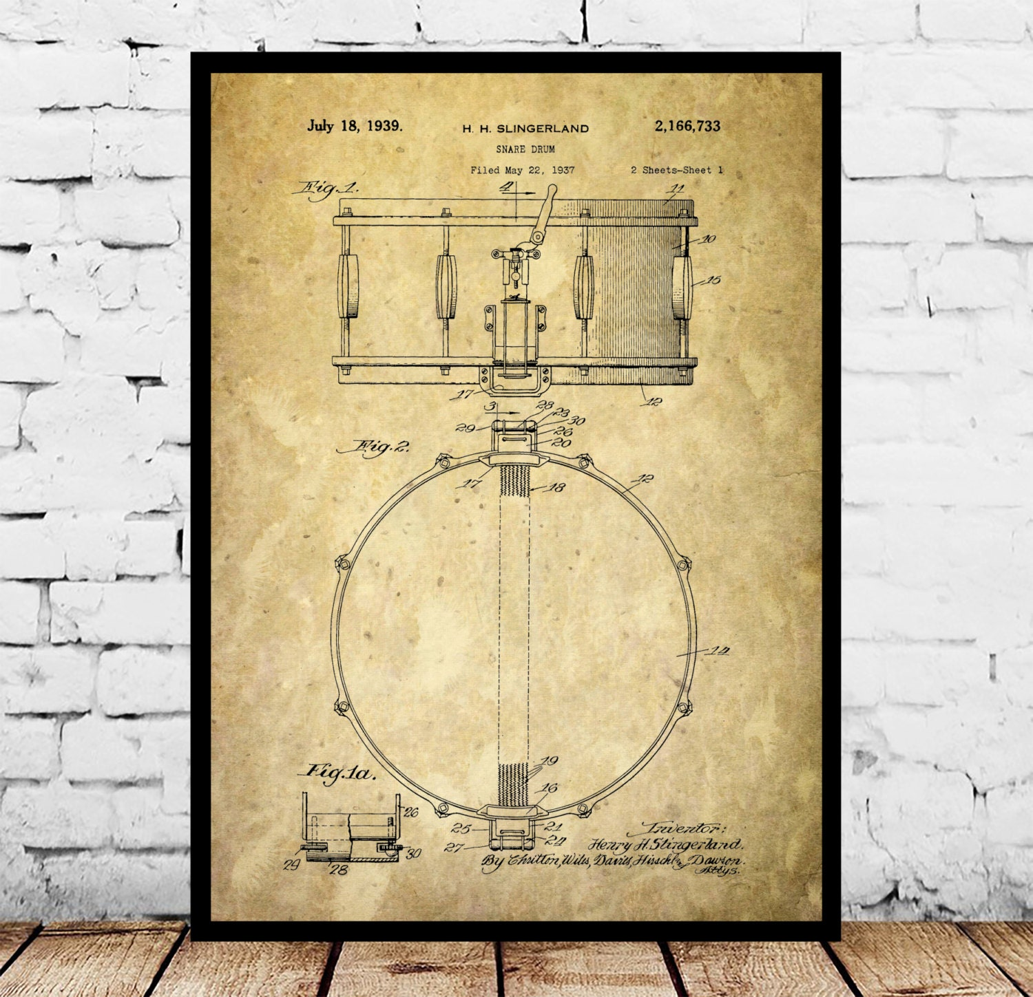 Snare Drum Print Snare Drum Poster Snare Drum Art Snare