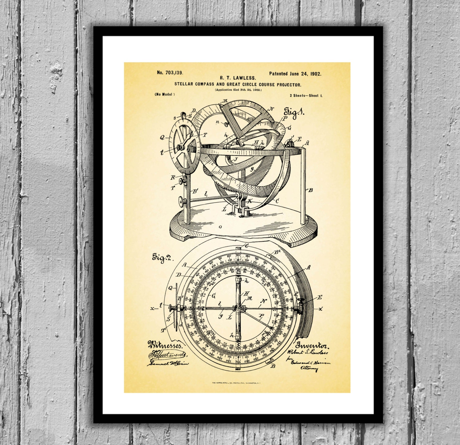 Nautical compass patent nautical compass poster nautical compass gallery photo gallery photo malvernweather Gallery