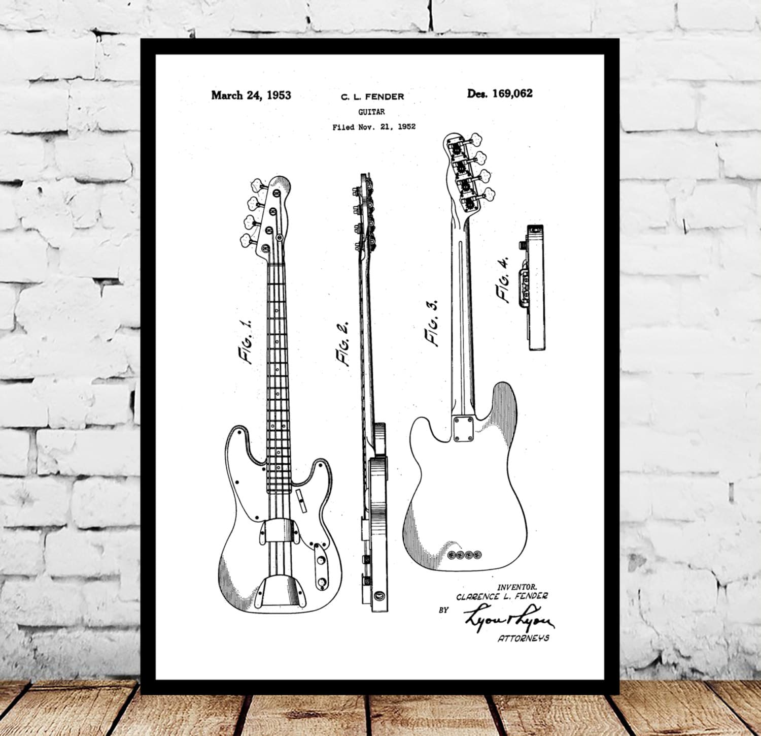 fender electric bass guitar poster fender electric guitar etsy. Black Bedroom Furniture Sets. Home Design Ideas
