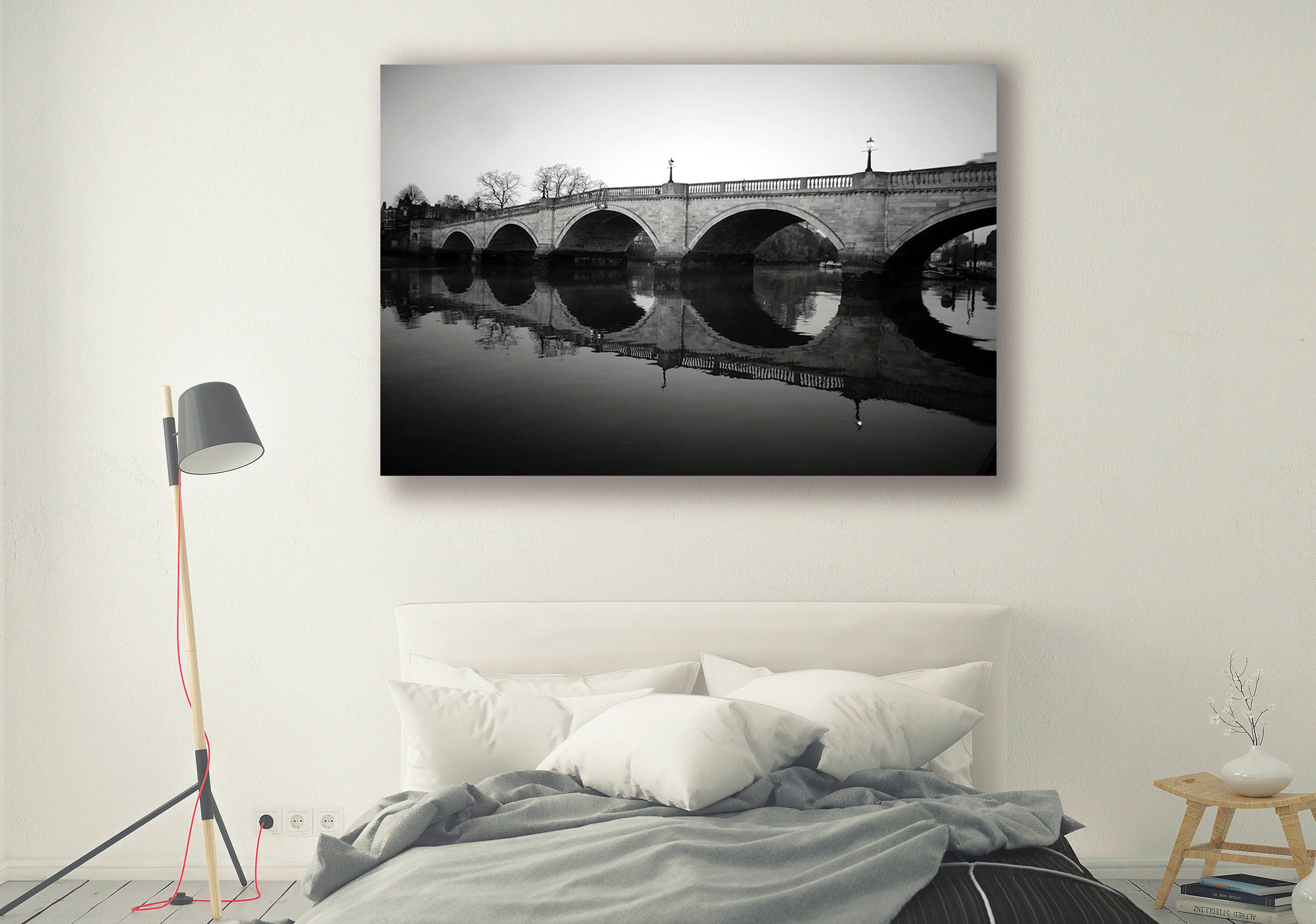 Black and white photography lifestyle photography architecture landscape photography scenery home decor bridge wall decor ph0148