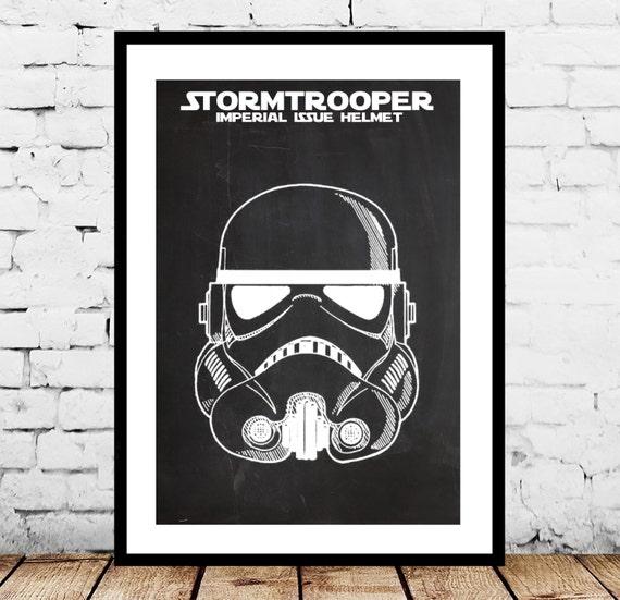 Star Wars Stormtrooper Patent Star Wars Stormtrooper Poster Etsy