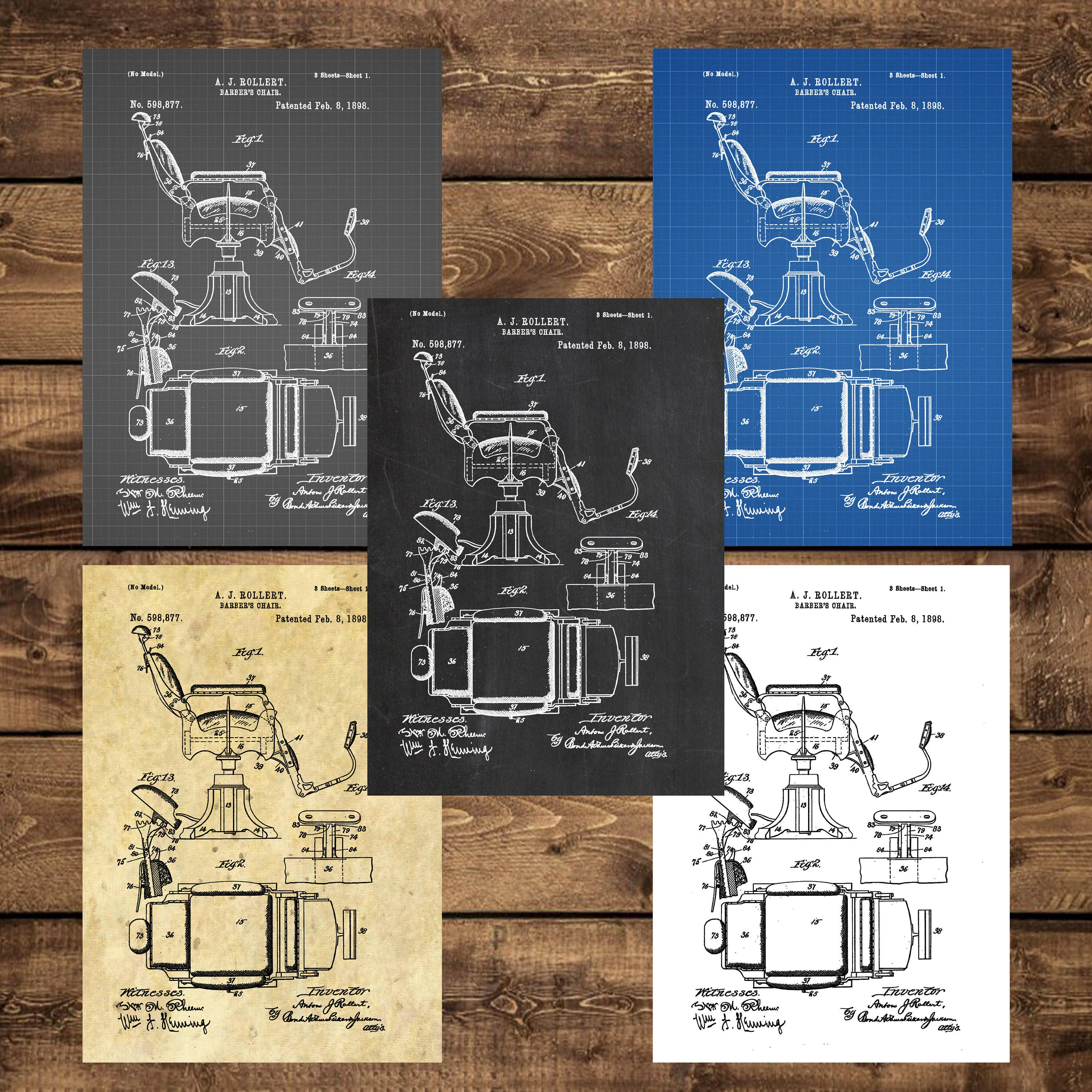 Instant download barber chair patent barber chair poster barber instant download barber chair patent barber chair poster barber chair print barber chair art barber chair decorbarber chair blueprint malvernweather Images