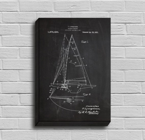 Stanleyprinthouse canvas sailboat patent sailboat poster sailboat blueprint sailboat print sailboat art malvernweather Gallery