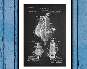 Fire Escape Hook Patent, Fire Escape Hook Poster, Fire Escape Hook Blueprint, Fire Escape Hook Print, Fire Escape Hook Decor