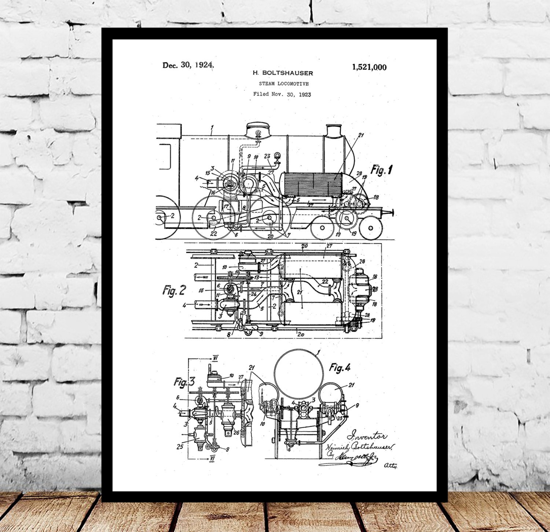 Locomotive print locomotive poster locomotive patent locomotive locomotive print locomotive poster locomotive patent locomotive art locomotive blueprint locomotive wall art train decor train art malvernweather Gallery