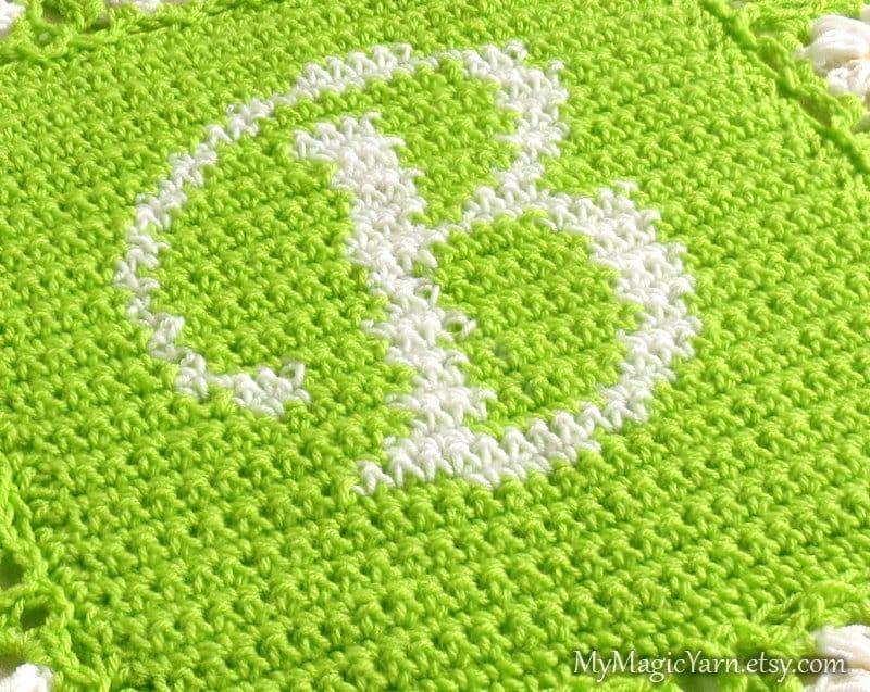 Crochet Pattern Letter B Chart For Crocheting Alphabet Etsy