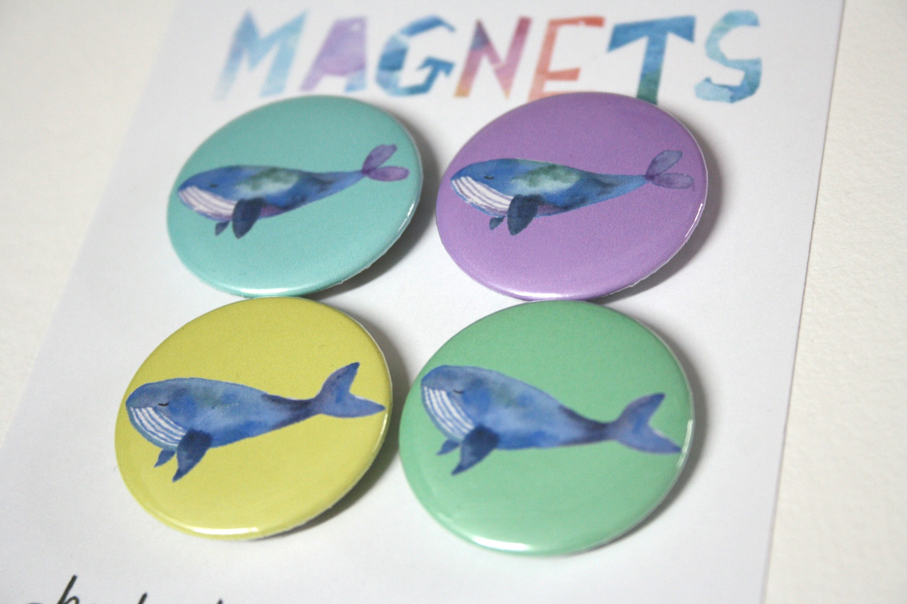 Whale Magnets Sea Creature Magnets Button Magnets Fun